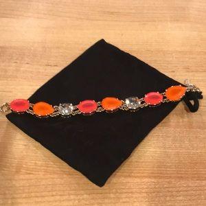 J. Crew Factory gold chain jeweled bracelet